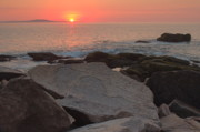 Down East Maine Art - Acadia Sunrise by Stephen  Vecchiotti