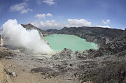 Craters Prints - Acidic Crater Lake, Kawah Ijen Volcano Print by Richard Roscoe