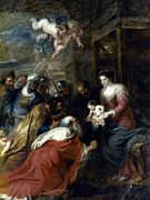 Holy Family Prints - Adoration Of The Magi Print by Granger