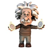 Theory Prints - Albert Einstein, Artwork Print by Friedrich Saurer