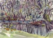 Plein Air Art - Alder Creek by Donald Maier