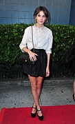 Full Skirt Metal Prints - Alexa Chung Wearing A 3.1 Phillip Lim Metal Print by Everett