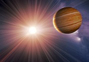 Extrasolar Planet Photos - Alien Planet And Star, Artwork by Detlev Van Ravenswaay