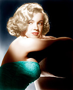 Bare Shoulder Framed Prints - All About Eve, Marilyn Monroe, 1950 Framed Print by Everett