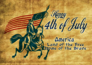 Fourth Of July Posters - American revolution soldier general  Poster by Aloysius Patrimonio