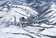 Mountain Valley Framed Prints - An A-10c Thunderbolt  Flies Framed Print by HIGH-G Productions