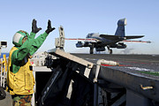 Carrier Prints - An Ea-6b Prowler Launches Print by Stocktrek Images