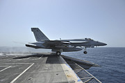 Enterprise Prints - An Fa-18e Super Hornet Launches Print by Stocktrek Images