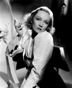 Puffed Sleeves Prints - Angel, Marlene Dietrich, 1937 Print by Everett