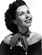 Bare Shoulder Metal Prints - Ann Miller, Portrait Metal Print by Everett