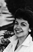 1960s Candids Framed Prints - Annette Funicello, 1961 Framed Print by Everett