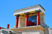 Archaeological Photos - Archaeological site of Knossos. Minoan Palace. Crete. by Fernando Barozza