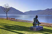 Park Benches Prints - Ascona - Lake Maggiore Print by Joana Kruse