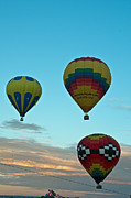 Balloon Fiesta Framed Prints - 3 at Dawn Framed Print by Jim Chamberlain