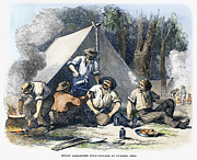 Gold Rush Posters - Australian Gold Rush, 1851 Poster by Granger