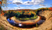 Color Bending Prints - Autumn in Arrowhead Provincial Park Print by Oleksiy Maksymenko