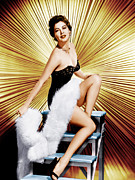 Leggy Framed Prints - Ava Gardner, Ca. 1950s Framed Print by Everett