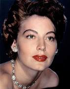 Diamond Earrings Photo Framed Prints - Ava Gardner Framed Print by Everett
