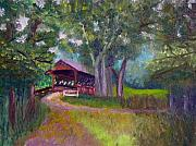 Covered Bridge Painting Metal Prints - Avon Covered Bridge Metal Print by Stan Hamilton