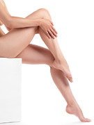 Low Section Prints - Bare Woman Legs Print by Oleksiy Maksymenko