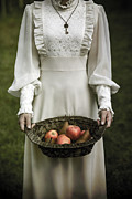 Woman Posters - Basket With Fruits Poster by Joana Kruse