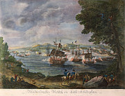 War Of 1812 Prints - Battle Of Lake Champlain Print by Granger