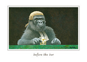 Gorilla Paintings - Before the bar... by Will Bullas