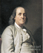 Ambassador Prints - Benjamin Franklin, American Polymath Print by Photo Researchers