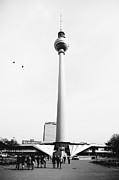 Torn Photo Framed Prints - Berlin TV Tower Framed Print by Falko Follert