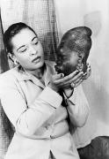 Portrait Sculpture Photograph Prints - Billie Holiday (1915-1959) Print by Granger