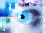 Identification Posters - Biometric Eye Scan Poster by Pasieka