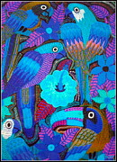 Kathleen Prints - Birds of Panama Print by Kathleen Othon