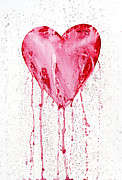 Used Paintings - Bleeding Heart by Michal Boubin