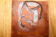 Ugandan Ceramicist Ceramics Prints - Bless - tile Print by Gloria Ssali