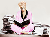 Pajamas Prints - Born Yesterday, Judy Holliday, 1950 Print by Everett