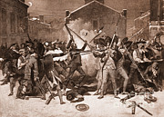 Chappel Prints - Boston Massacre, 1770 Print by Photo Researchers
