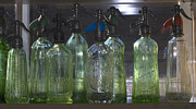Sports Glass Art Metal Prints - Bottle of water  Metal Print by Odon Czintos