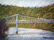 West Virginia Pastels - Bridge to West Virginia by Dayna Jones