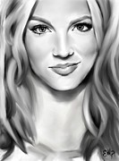 Icon  Drawings - Brit by Lisa Pence