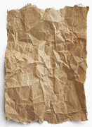 Tattered Prints - Brown paper Print by Blink Images