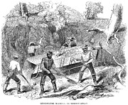 Gold Rush Prints - California Gold Rush, 1860 Print by Granger