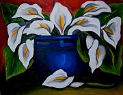 Calla Lilly Painting Prints - Calla Lilies Print by Misty VanPool