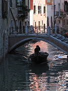 Venise Photos - Canal. Venice by Bernard Jaubert
