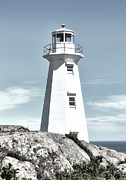 Historic Site Digital Art Metal Prints - Cape Spear Lighthouse Metal Print by Steve Hurt