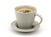 Coffee Cup Posters - Cappuccino coffee  Poster by Blink Images