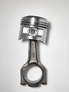 Grey Background Photos - Car Engine Piston by Tek Image
