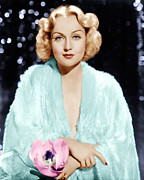 Blonde Framed Prints - Carole Lombard, Ca. 1930s Framed Print by Everett