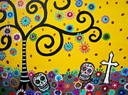 Mexico Paintings - Cemetery by Pristine Cartera Turkus
