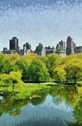 N.y. Art - Central Park in New York by George Atsametakis