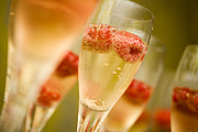 Champagne Glasses Photo Posters - Champagne Poster by Kati Molin